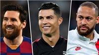 Top 10 cầu thủ lương cao nhất thế giới 2020: Ronaldo vẫn số một, trên Messi và Neymar
