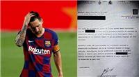 NÓNG: Barca tuyên bố sẽ đưa Messi ra tòa