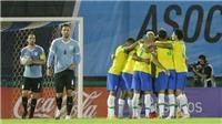 Cavani bị truất quyền thi đấu, Uruguay bại trận trước Brazil