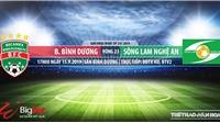 Trực tiếp bóng đá: Bình Dương vs SLNA (17h00 hôm nay). Soi kèo Bình Dương đấu với SLNA, V League 2019