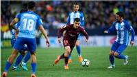 Video bàn thắng highlights trận Malaga 0-2 Barcelona: Không cần Messi, Barca vẫn thắng dễ