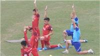 Thầy trò HLV Park Hang Seo tập Yoga, Tiến Linh không bất ngờ khi bị loại