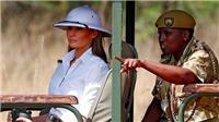 Bà Melania Trump bị chỉ trích nặng nề khi đội mũ thực dân tới thăm Kenya