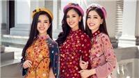 Hoa hậu Tiểu Vy cùng hai Á hậu Phương Nga, Thúy An đẹp rạng ngời khi sắp thành Nữ thần Nho