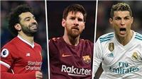 Salah được so với Ronaldo và Messi, sẽ cạnh tranh Quả bóng vàng