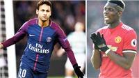 CHUYỂN NHƯỢNG 15/5: M.U đổi Pogba lấy Neymar, Liverpool ra điều kiện bán Salah cho Real Madrid