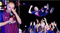 Andres Iniesta bật khóc khi phải chia tay Barca sau 22 năm gắn bó