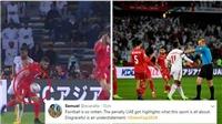 UAE hưởng phạt đền phút chót, trọng tài bị tố thiên vị chủ nhà trắng trợn