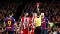 Barcelona 2-0 Atletico Madrid: Diego Costa nhận thẻ đỏ vì lôi cả mẹ trọng tài ra xúc phạm