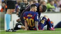 Lionel Messi lại chấn thương: Barca không được mạo hiểm với Leo nữa