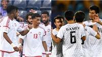 Trực tiếp bóng đá U23 UAE vs U23 Uzbekistan:  Nhà vô địch gặp khó. VTV6 trực tiếp