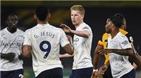 Wolves 1-3 Man City: De Bruyne tỏa sáng, Man City khởi đầu suôn sẻ