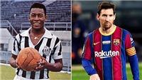 Messi vẫn chưa phá kỷ lục ghi bàn của Vua bóng đá Pele