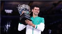 Djokovic vô địch Australian Open 2021: Thống trị Melbourne, sẵn sàng vượt Federer và Nadal