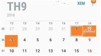 Dịp nghỉ lễ 2/9 năm nay được nghỉ bao nhiêu ngày?