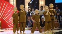 Xem 'Thách thức danh hài' tập 8: Xuất hiện 5 chú tiểu 3-4 tuổi ẵm luôn 100 triệu?