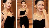 H'Hen Niê gây chú ý khi diện trang phục đen kết hợp phụ kiện vàng rực