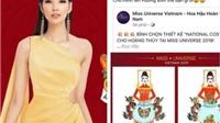Trang phục 'Bàn thờ' cho Hoàng Thuỳ thi Miss Universe gây tranh cãi: BTC nói gì?