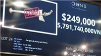 Con dao vàng nạm 36 viên hổ phách thế kỷ 18 chốt giá 249.000 USD (gần 5,8 tỷ)