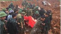 Sạt lở đất ở Hướng Hóa - Quảng Trị: Lực lượng cứu hộ băng qua khu vực sạt lở để tiếp cận hiện trường