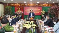 Bí thư Thành ủy Hà Nội thăm lực lượng làm nhiệm vụ ở khu cách ly Pháp Vân Tứ Hiệp
