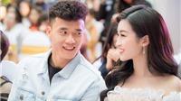 Hoa hậu Đỗ Mỹ Linh xuất hiện tình tứ cạnh thủ môn Bùi Tiến Dũng