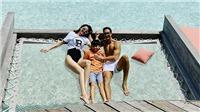 Hồ Ngọc Hà và Kim Lý đưa Subeo đi du lịch ở Maldives để tránh dịch COVID-19