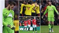 Watford 2-0 MU: Paul Pogba trở lại, MU thua đội bét bảng vì De Gea