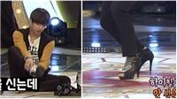 Xem V BTS nhảy điệu nghệ trên... giày cao gót