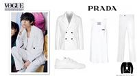 Mặc đồ trắng chụp trên phông trắng, V BTS vẫn nổi bật trên Vogue