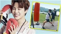 Bật cười trước cảnh hài hước Jungkook BTS dạy Jimin chơi boxing