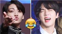 Phản ứng hài hước của Jin BTS khi bị Jungkook hôn trộm