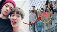 Jin BTS 'cạch mặt' nhau với V mà vẫn mặc đồ đôi