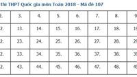 Giải đề thi toán 2018 mã đề 107