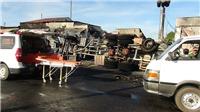 Vụ cháy xe bồn khiến 6 người chết cháy, 15 căn nhà bị thiêu rụi hoàn toàn