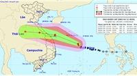 Bão số 5 đi vào đất liền các tỉnh từ Quảng Bình đến Quảng Nam