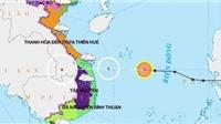 Áp thấp nhiệt đới đi vào đất liền suy yếu thành vùng áp thấp