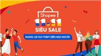 Shopee khởi động sự kiện 11/11 Siêu Sale mang lợi ích TMĐT đến tất cả người dùng