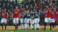 Video clip highlights bàn thắng trận M.U 0-1 West Brom