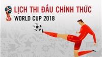 Lịch thi đấu và truyền hình trực tiếp World Cup 2018