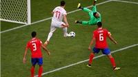 Video clip bàn thắng Costa Rica 0-1 Serbia: Kolarov lập 'siêu phẩm' đá phạt