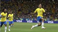 Video clip bàn thắng trận Brazil 1-1 Thụy Sĩ: Coutinho lập 'siêu phẩm' sút xa