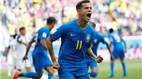 Video clip bàn thắng Brazil 2-0 Costa Rica: Coutinho và Neymar ghi bàn