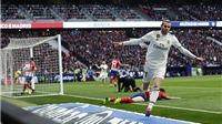 VIDEO Atletico 1-3 Real Madrid: Casemiro lập 'siêu phẩm', Bale có bàn thứ 100