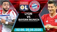 Cập nhật trực tiếp bóng đá bán kết cúp C1: Lyon vs Bayern Munich. K+, K+PM trực tiếp