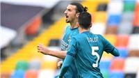 Udinese 1-2 AC Milan: 'Siêu phẩm' của Ibrahimovic giúp Milan vẫn bất bại ở Serie A