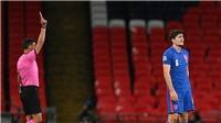 Anh 0-1 Đan Mạch: Maguire nhận thẻ đỏ, Tam Sư thất bại cay đắng