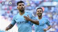 Video clip bàn thắng Man City 2-0 Chelsea: Aguero toả sáng, Man City giành Siêu cúp Anh
