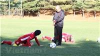 Cận cảnh ĐT Việt Nam luyện tập trên quê hương HLV Park Hang-seo