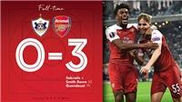 VIDEO Qarabag 0-3 Arsenal: Pháo thủ thắng trận thứ 8 liên tiếp